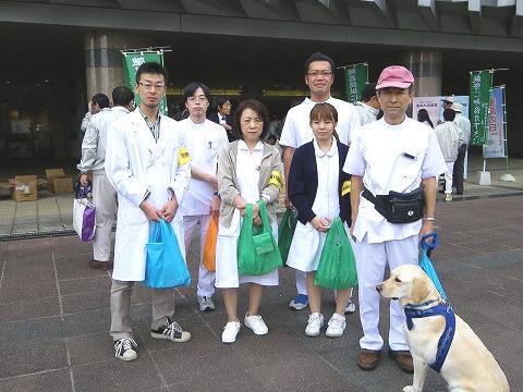 臓器移植普及推進月間・街頭キャンペーンに参加しました。