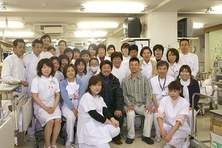 「報道ニッポン」の取材のため布川俊和さんが来院しました。