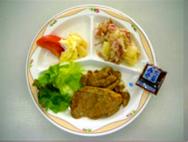 生姜焼き・ジャーマンポテト・盛り合わせサラダ