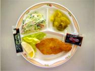 白身魚のフライ・シルバーサラダ・さつまいもの重ね煮